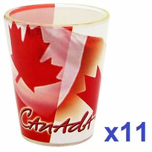 NEW CANADIAN FLAG SHOT GLASSES+New City of T.O Shot glasses