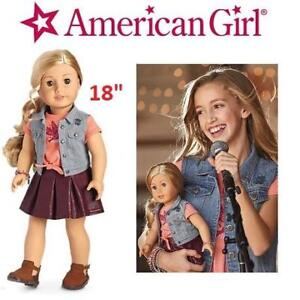 """NEW AMERICAN GIRL DOLL AND BOOK DVM11-BF1A 220753050 TENNEY GRANT 18"""" DOLL"""