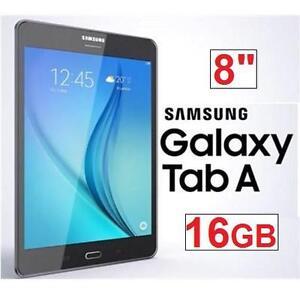 "NEW OB SAMSUNG GALAXY TAB A 16GB 8"" WIFI 16GB ANDROID TABLET - TITANIUM GREY 101652362"
