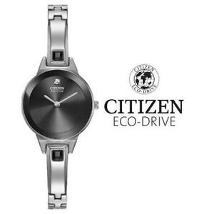 USED WOMEN'S CITIZEN ECO WATCH EX1320-54E 205531588 CITIZEN ECO-DRIVE JEWELLERY JEWELRY STAINLESS STEEL BANGLE
