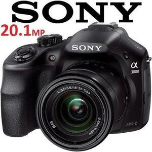 USED SONY ALPHA 20.1MP CAMERA - 106118433 - a3000 Digital Camera with 18-55mm Lens - ELECTRONICS