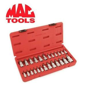 NEW 25PC MAC TOOLS DRIVER SET SMXT25B 244097445 STAR TAMPER RESISTANT TOOLS