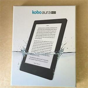Kobo Aura H20 Waterproof E-Reader 4 GB 6.8in WIFI BLACK (NEW OPEN BOX)