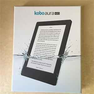 Kobo Aura H20 Waterproof E-Reader 4 GB 6.8in WIFI BLACK (NEW OPEN BOX)