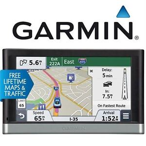 "REFURB GARMIN 5"" GPS W/LIFETIME MAP NUVI - LIFETIME MAP TRAFFIC"
