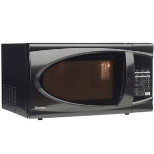 Danby Designer 0.7 cu. ft. Countertop Microwave Black/White