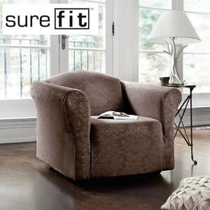 NEW SUREFIT CHAIR SLIPCOVER DAMASK STRETCH HOME HOUSE FURNITURE 102199756