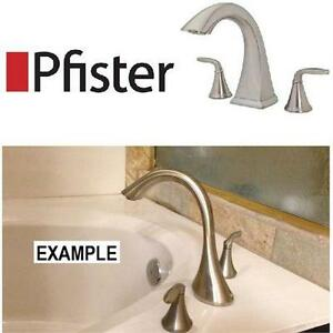 NEW PFISTER 2-HANDLE TUB FAUCET Pasadena 2-Handle High-Arc Deck Mount Roman Tub Faucet in Brushed Nickel home 76246777
