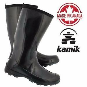 NEW KAMIK BOOTS WOMEN'S 7   BLACK - SHOES WATERPROOF RAIN   86377108