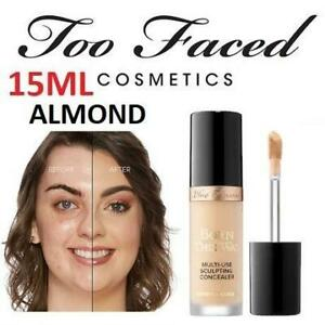 NEW TOO FACED MULTI-USE CONCEALER 1658 240027348 ALMOND 15ML BORN THIS WAY SUPER COVERAGE SCULPTING MAKEUP BEAUTY COS...