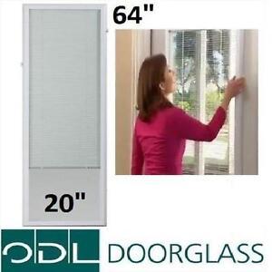 NEW ODL GLASS MINI BLINDS ADD ON 2064 GLASS SIZE - FULL DOOR LIGHT OVER INSERT DOORS WINDOWS ENTRY DOORS WINDOW