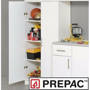 "NEW PREPAC ELITE STORAGE CABINET WHITE 32"" 5'5"" x 32"" x16"" ORGANIZATION FURNITURE GARAGE BASEMENT BEDROOMS   83905165"