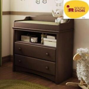 NEW SOUTH SHORE CHANGING TABLE   Espresso BABY NURSURY FURNITURE BATHING CHANGE TABLE 98181638
