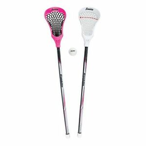 """Franklin Sports 32"""" Youth Lacrosse 2 Stick and Ball Set For $12"""