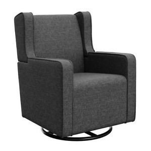 NEW Graco Remi Upholstered Swivel Glider