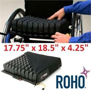 """NEW ROHO WHEELCHAIR CUSHION QS910HD 230037175 QUAD SELECT 17175"""" x 18.5"""" x 4.25"""" WITH SEAT COVER"""
