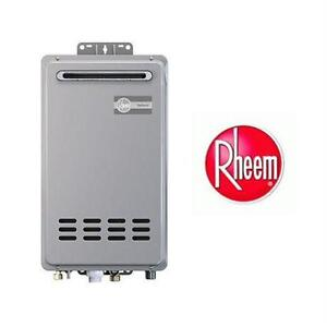 NEW RHEEM TANKLESS NG WATER HEATER 6.4 GPM - MID EFFICIENCY - OUTDOOR - ECOSENSE NATURAL GAS 150000 BTU Plumbing