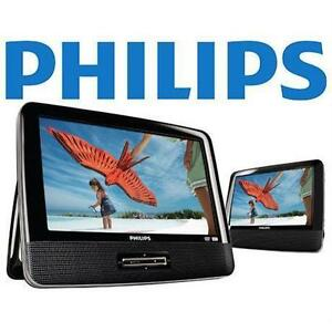 "DVD player 9"" dual screen-philps-for car/van-inbox-warranty-$69."