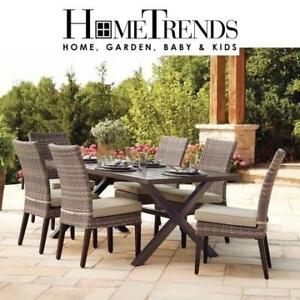 NEW* HOMETRENDS 7PC DINING SET FRS70513BST 201300134 7 PIECE MONACO PATIO FURNITURE