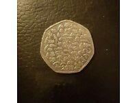 Rare 2011 WWF 50p Coin