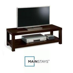 "NEW MAINSTAYS MULTI-PURPOSE TV BENCH STAND TV BENCH STAND ESPRESSO - TVs UP TO 40"" HOME ENTERTAINMENT CENTRE 75847491"