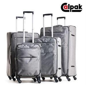 NEW CALPAK 4PC SPINNER LUGGAGE SET SUITCASE BAG SET TRAVEL GEAR BAG