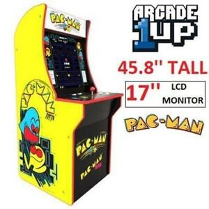 USED RED PLANET PACMAN ARCADE GAME 8152210270307, 7030 252314617 ARCADE 1UP MACHINE CABINET CLASSIC