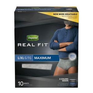 6$ Depends real fit men's L/XL incontinence 20 boxes available