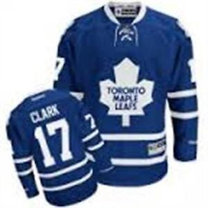 REEBOK TORONTO MAPLE LEAFS NO.17 WENDEL CLARK MEN'S JERSEY