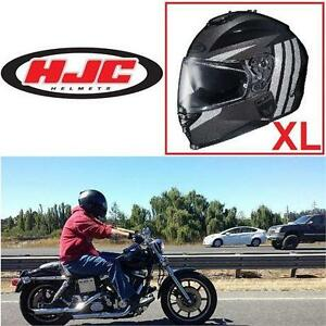 NEW HJC IS-17 MOTORCYCLE HELMET XL GRAPPLE MC5 - GREY/SILVER/BLACK - STREET - FULL FACE - RIDING - HEAD GEAR bike cycle