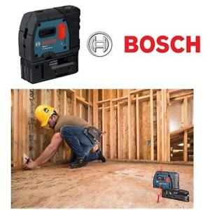 NEW BOSCH 5 POINT ALIGNMENT LASER GPL5 209587524 SELF LEVELING TOOLS 100 FT 30 M