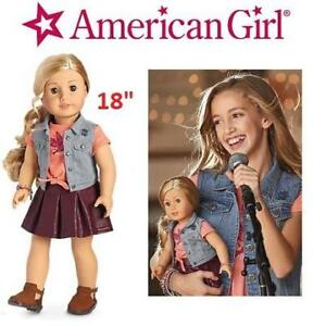 "NEW AMERICAN GIRL DOLL AND BOOK DVM11-BF1A 220753050 TENNEY GRANT 18"" DOLL"