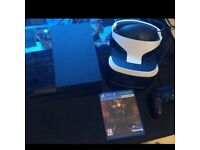 PS4 console and VR headset plus camera