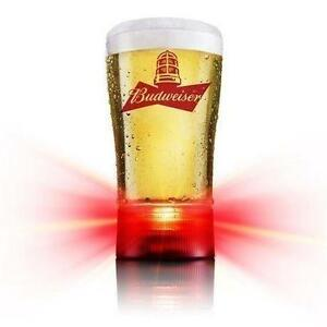 NEW BUDWEISER GOAL-SYNCED GLASS 414 ML CAPACITY- BEER - ALCOHOL - DRINK 108996730