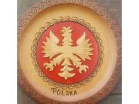 """Polska"" wooden wall plate"