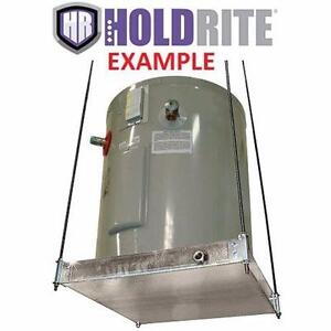 """NEW HOLDRITE SUSPENDED PLATFORM WATER HEATER PLATFORM W/ DRAIN PAN - 26.5""""x26.5"""" - CEILING MOUNTED  83231543"""
