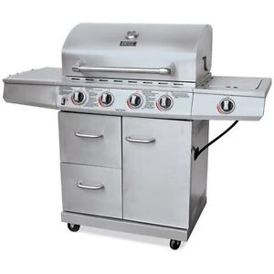 Backyard Grill Stainless Steel 4 Burner Gas Grill BBQ