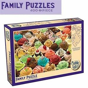 "NEW 400PC FAMILY PUZZLES ICE CREAM 24x18"" MORE ICE CREAM - COBBLE HILL PUZZLES - TOYS GAMES - JIGSAW PUZZLES  82598677"