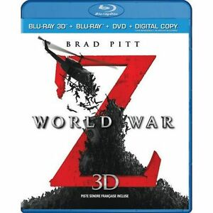 World War Z (Blu-ray 3D + Blu-ray + DVD + Digital Copy) Edmonton Edmonton Area image 1