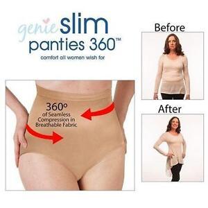 NEW GENIE SLIM PANTIES WOMEN'S 2X - 110182013 - NUDE GENIE SLIM PANTEIS 360 - UNDERWEAR