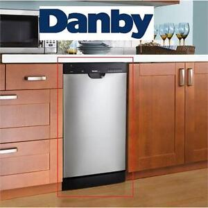 "NEW DANBY FRONT CONTROL DISHWASHER 18"" - STAINLESS STEEL - W/ STAINLESS STEEL TUB  87794876"