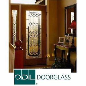 "NEW ODL MAJESTIC 2264 DOOR INSERT DARK PATINA 22"" x 64"" WITH HP FRAME DOORS INSERTS EXTERIOR DECORATIVE GLASS 98165965"
