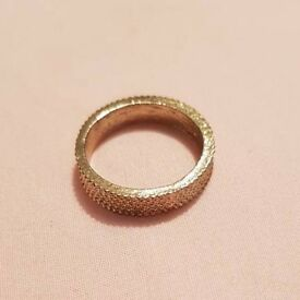 Golden Textured Band Ring