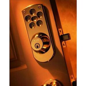 NEW: Opened Box Weiser Polished Brass Electronic Deadbolt