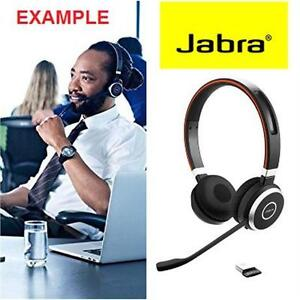 NEW JABRA BLUETOOTH HEADSET EVOLVE 65 MS STEREO - OFFICE NETWORKING VOIP HEADSETS ELECTRONICS COMPUTER 75356726