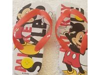 Mickey mouse flip flops
