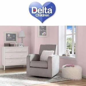 NEW DELTA CHARLOTTE NURSERY GLIDER   Delta Charlotte Nursery Glider- Grey BABYLIVING ROOM  FURNITURE 97927059