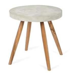 Concrete Round Side Table Bardwell Valley Rockdale Area Preview