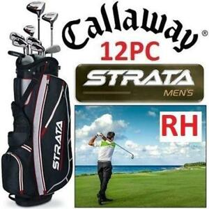 USED* 12PC STRATA MEN'S GOLF SET RH PK RH ST STRATA 15 12PC MEN 187070013 CALLAWAY RIGHT HAND