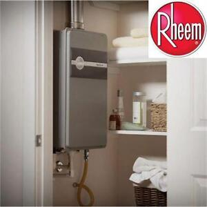 NEW RHEEM ECOSENSE WATER HEATER 9.5 GPM NATURAL GAS MID EFFICIENCY OUTDOOR TANKLESS WATER HEATER PLUMBING 80584105
